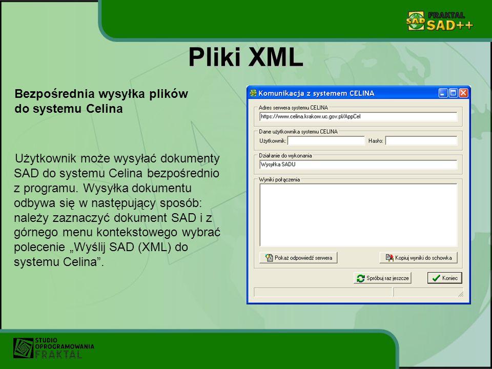 Pliki XML Bezpośrednia wysyłka plików do systemu Celina