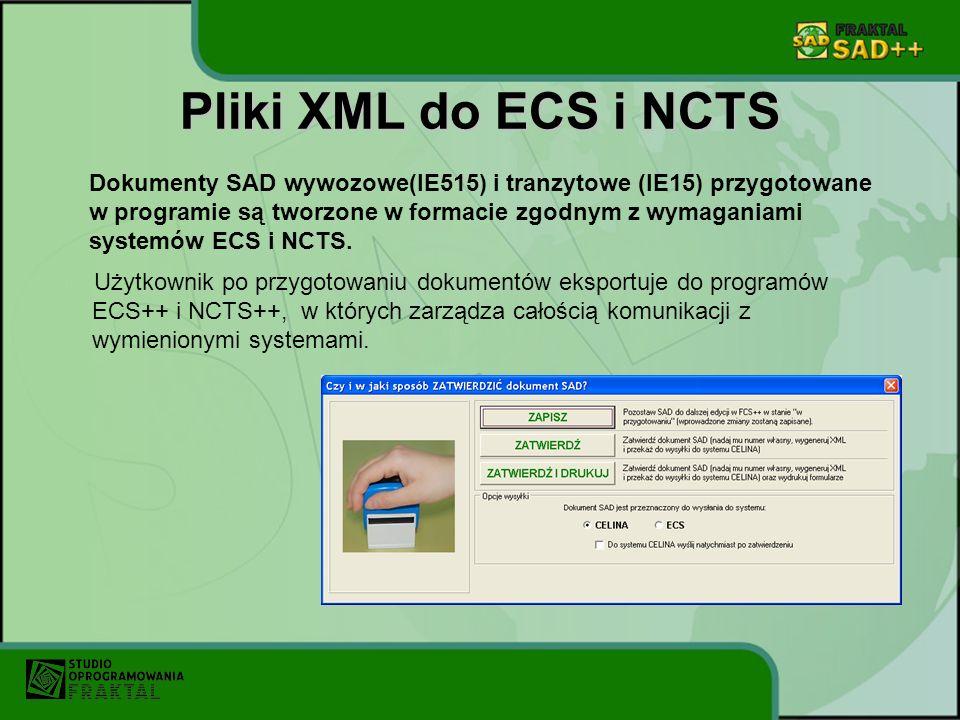Pliki XML do ECS i NCTS