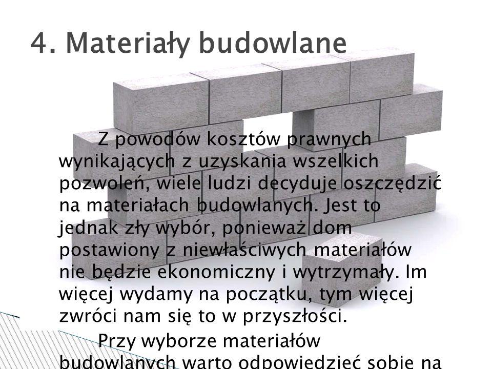 4. Materiały budowlane