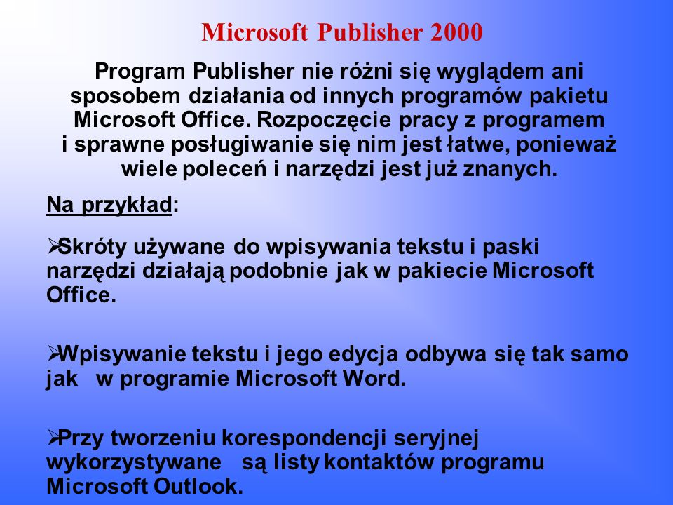 Microsoft Publisher 2000