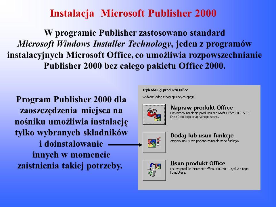 Instalacja Microsoft Publisher 2000