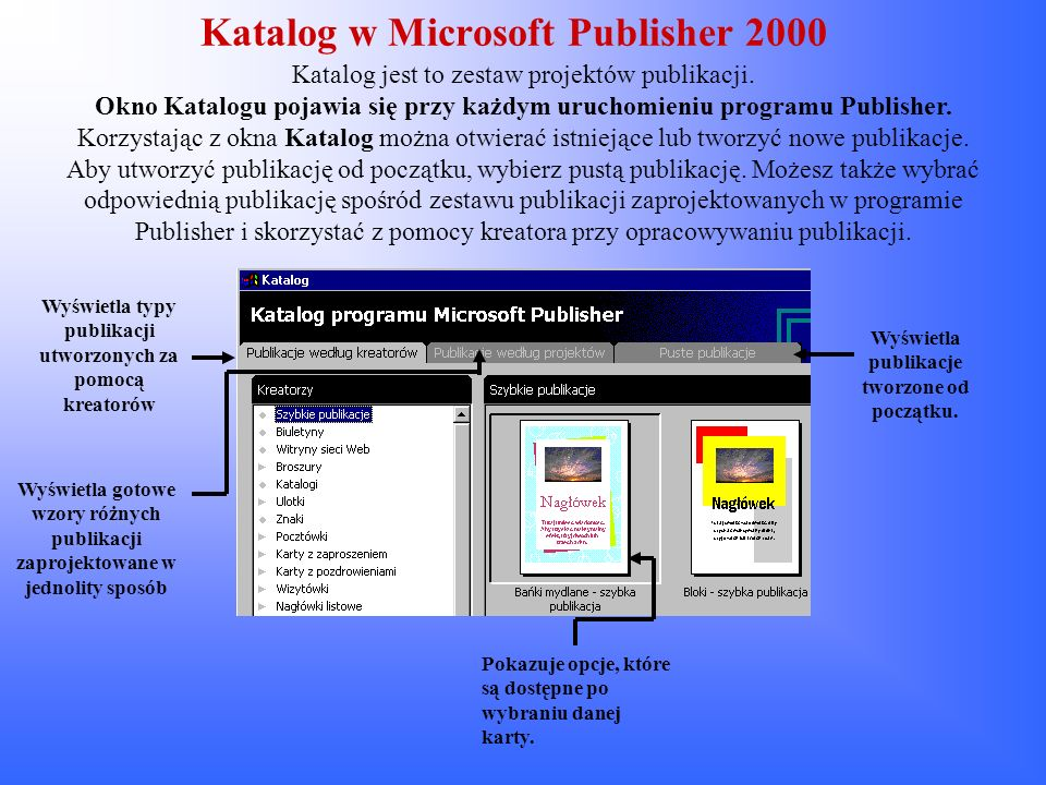 Katalog w Microsoft Publisher 2000