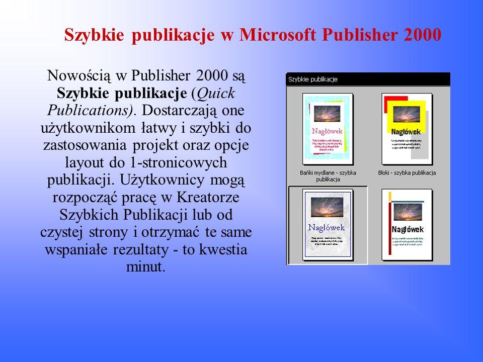 Szybkie publikacje w Microsoft Publisher 2000