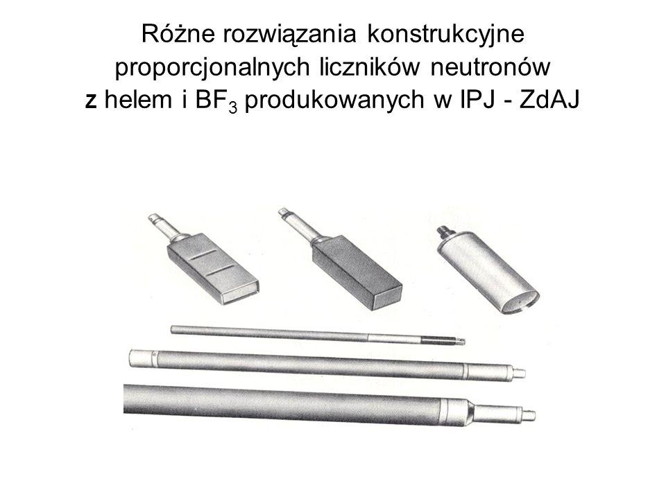 Różne rozwiązania konstrukcyjne proporcjonalnych liczników neutronów