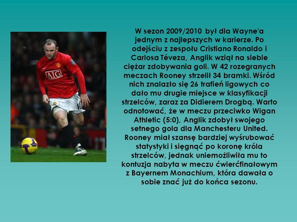W sezon 2009/2010 był dla Wayne a jednym z najlepszych w karierze
