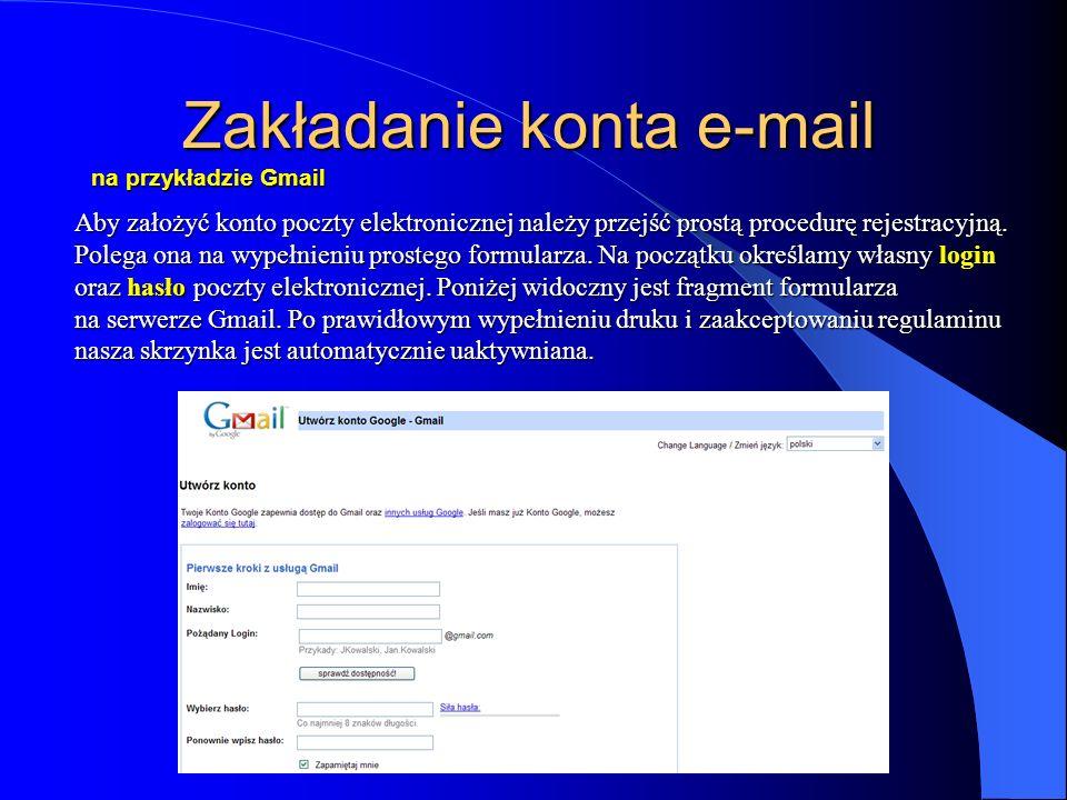 Zakładanie konta e-mail na przykładzie Gmail