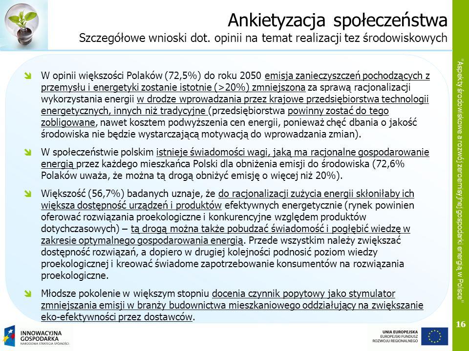 Ankietyzacja społeczeństwa Szczegółowe wnioski dot