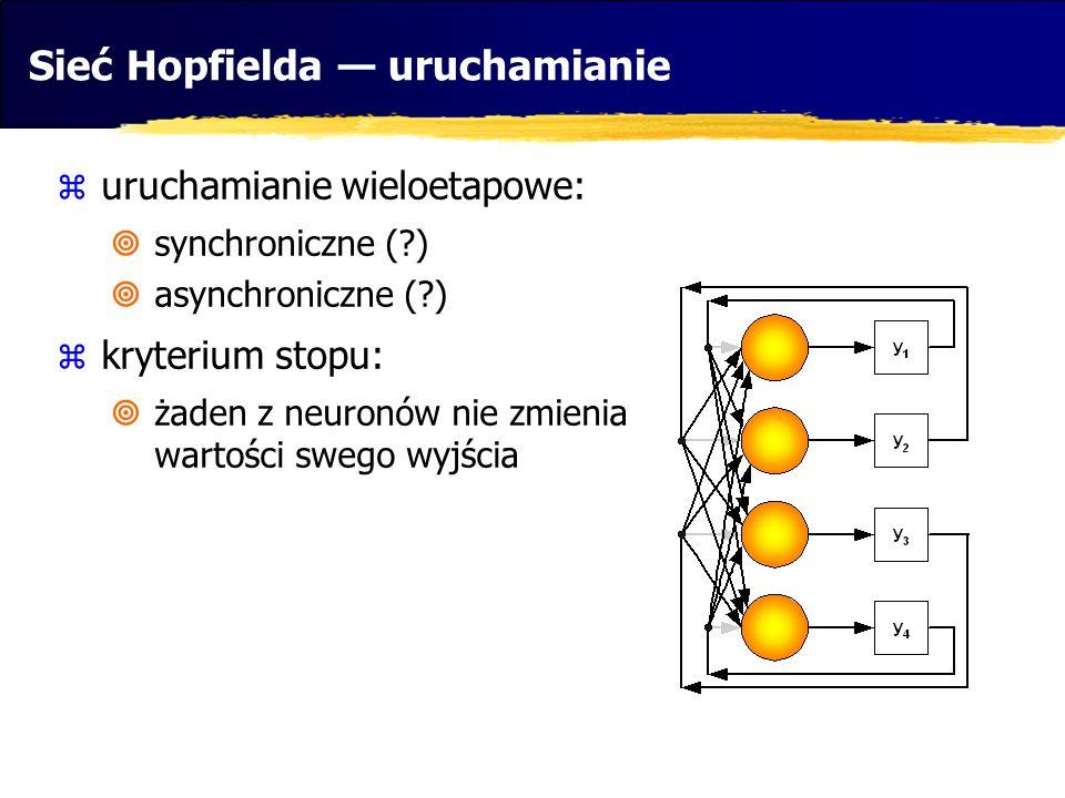Sieć Hopfielda — uruchamianie