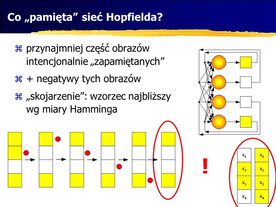 "Co ""pamięta sieć Hopfielda"