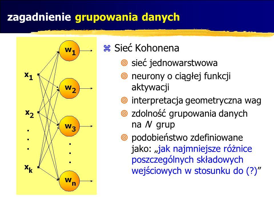 zagadnienie grupowania danych