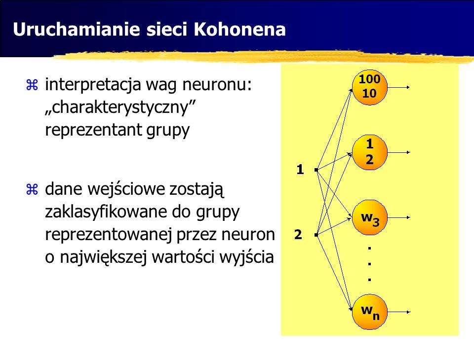 Uruchamianie sieci Kohonena