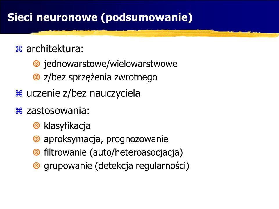 Sieci neuronowe (podsumowanie)