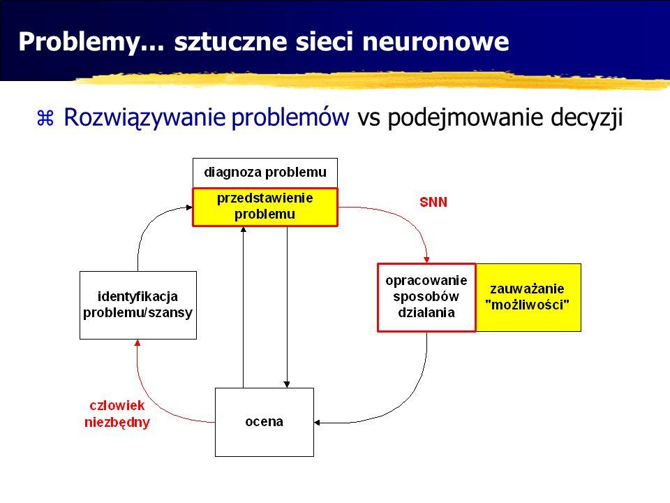 Problemy... sztuczne sieci neuronowe