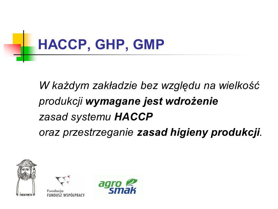 HACCP, GHP, GMP W każdym zakładzie bez względu na wielkość