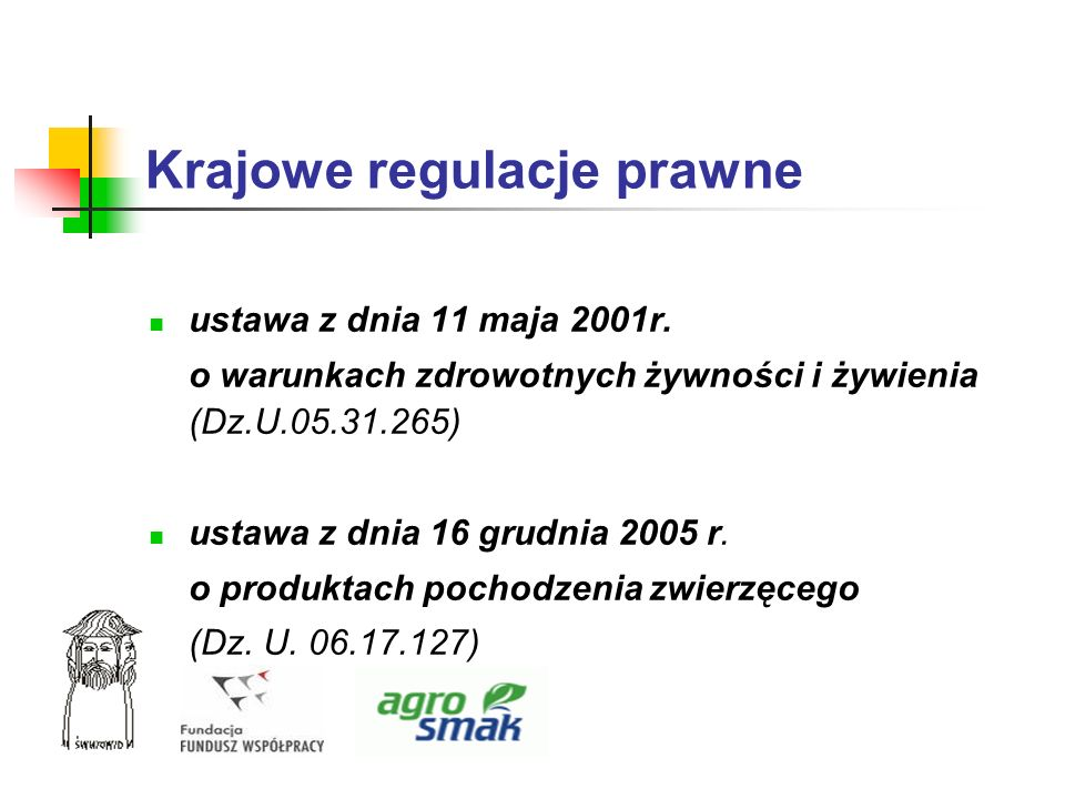 Krajowe regulacje prawne