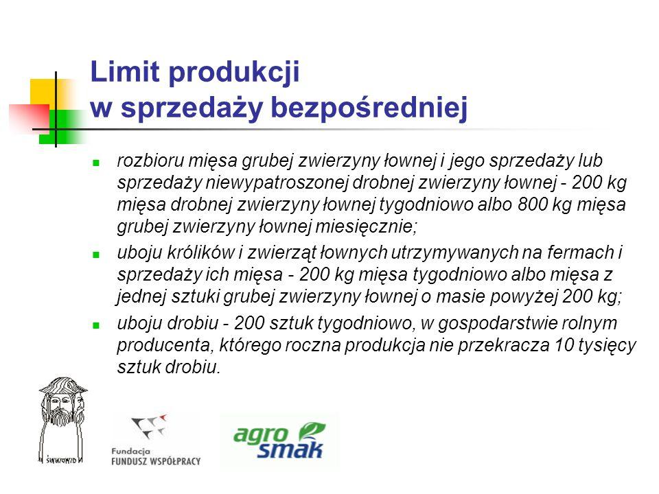 Limit produkcji w sprzedaży bezpośredniej