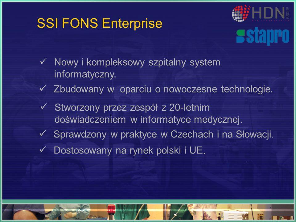 SSI FONS Enterprise Nowy i kompleksowy szpitalny system informatyczny.