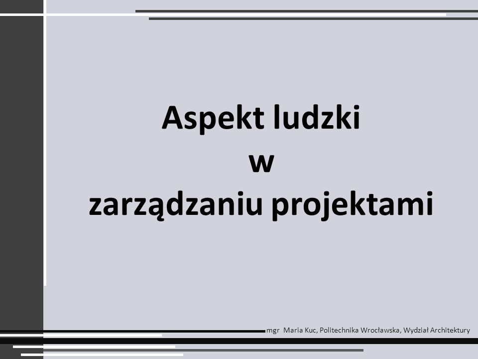 zarządzaniu projektami