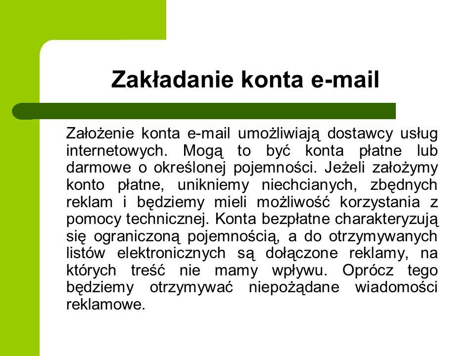 Zakładanie konta e-mail