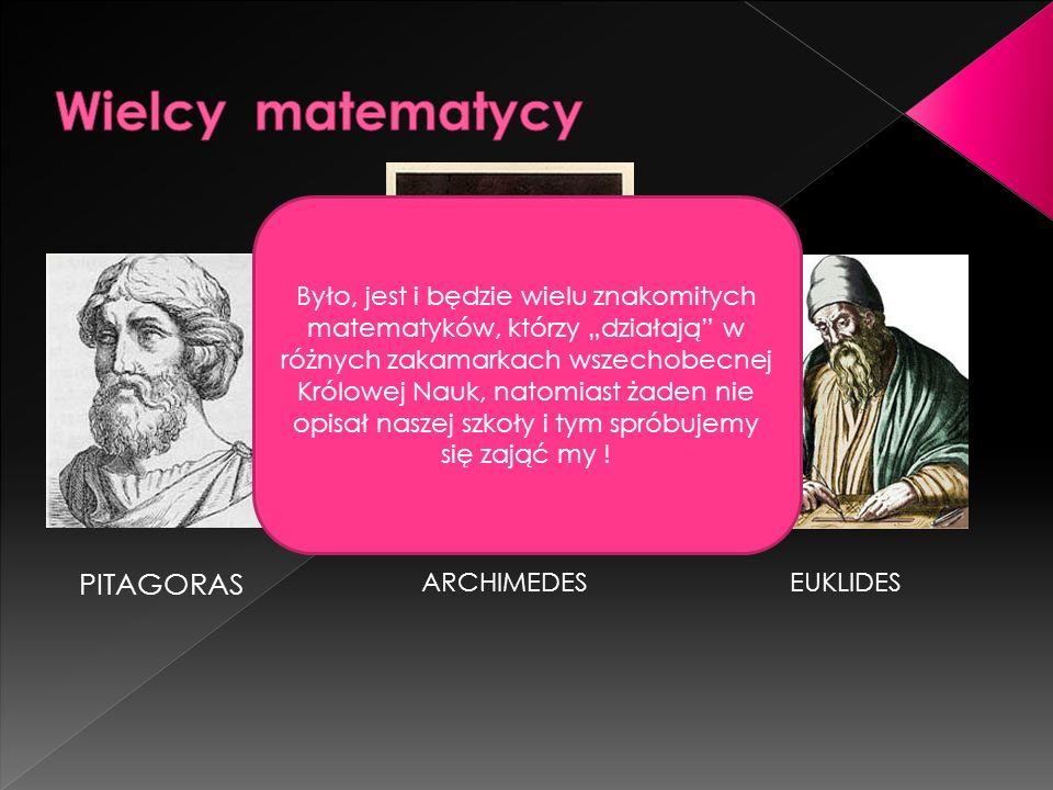 Wielcy matematycy PITAGORAS
