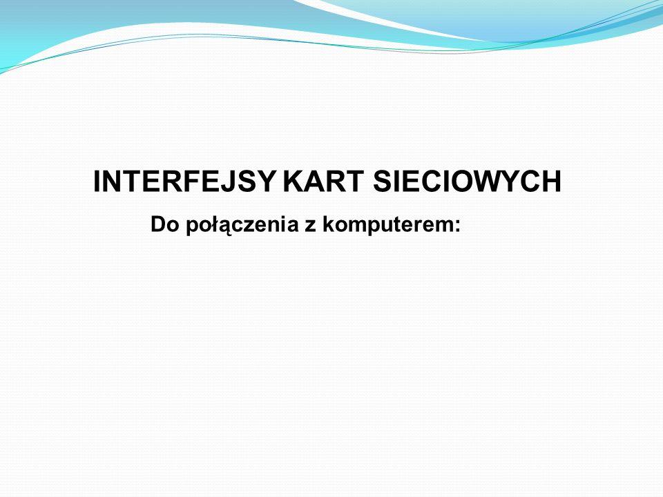 INTERFEJSY KART SIECIOWYCH