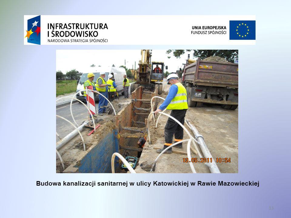 Budowa kanalizacji sanitarnej w ulicy Katowickiej w Rawie Mazowieckiej