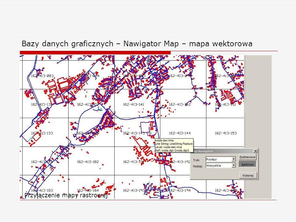 Bazy danych graficznych – Nawigator Map – mapa wektorowa