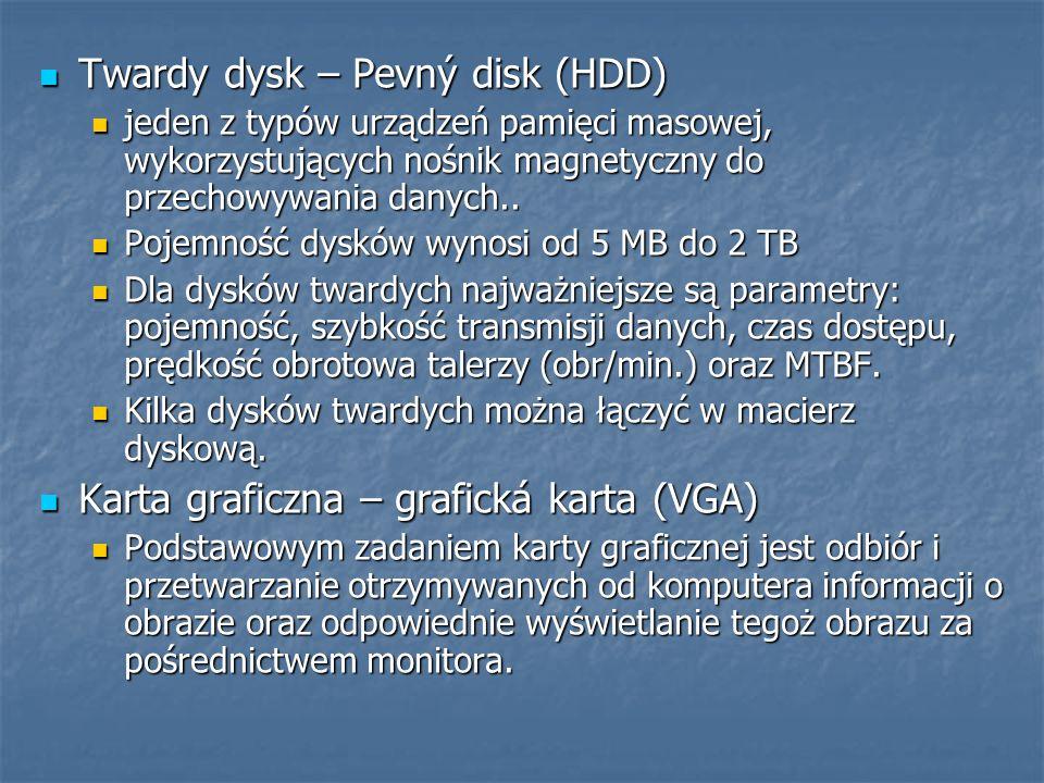 Twardy dysk – Pevný disk (HDD)