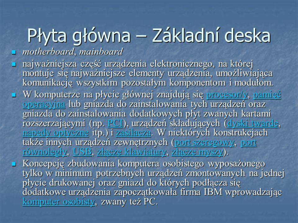 Płyta główna – Základní deska