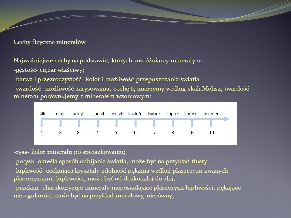 Cechy fizyczne minerałów