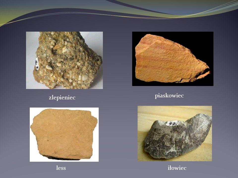 piaskowiec zlepieniec less iłowiec