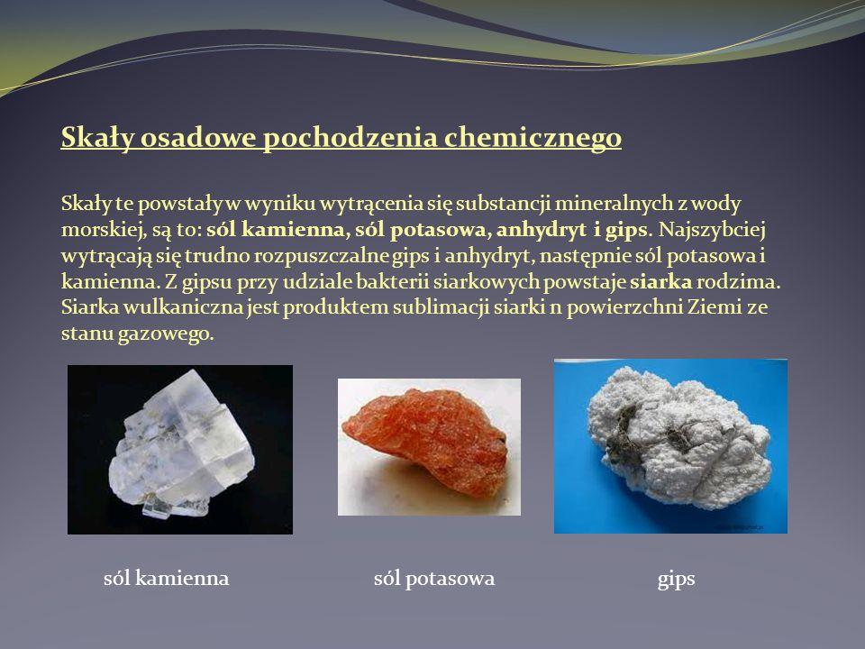 Skały osadowe pochodzenia chemicznego