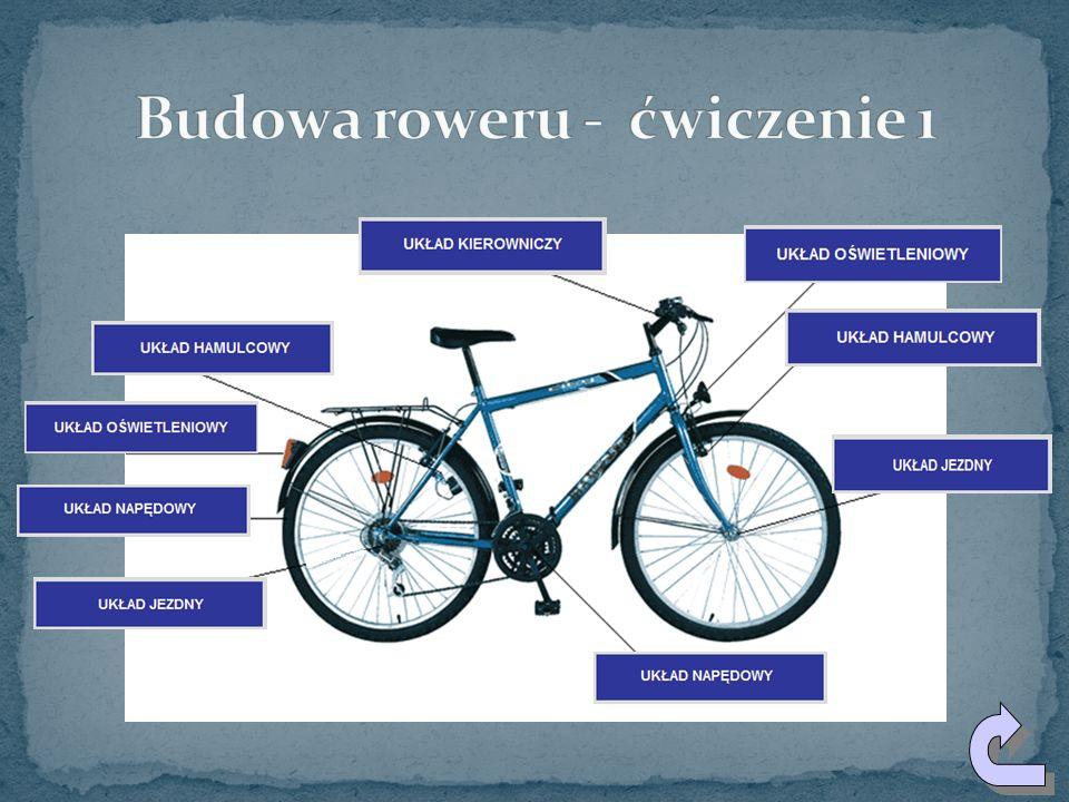 Budowa roweru - ćwiczenie 1