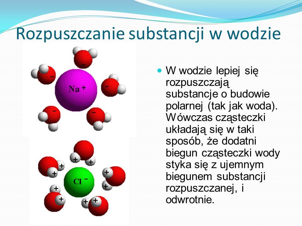 Rozpuszczanie substancji w wodzie
