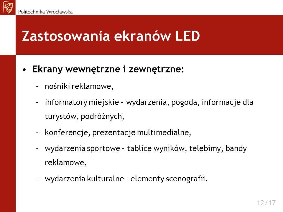 Zastosowania ekranów LED