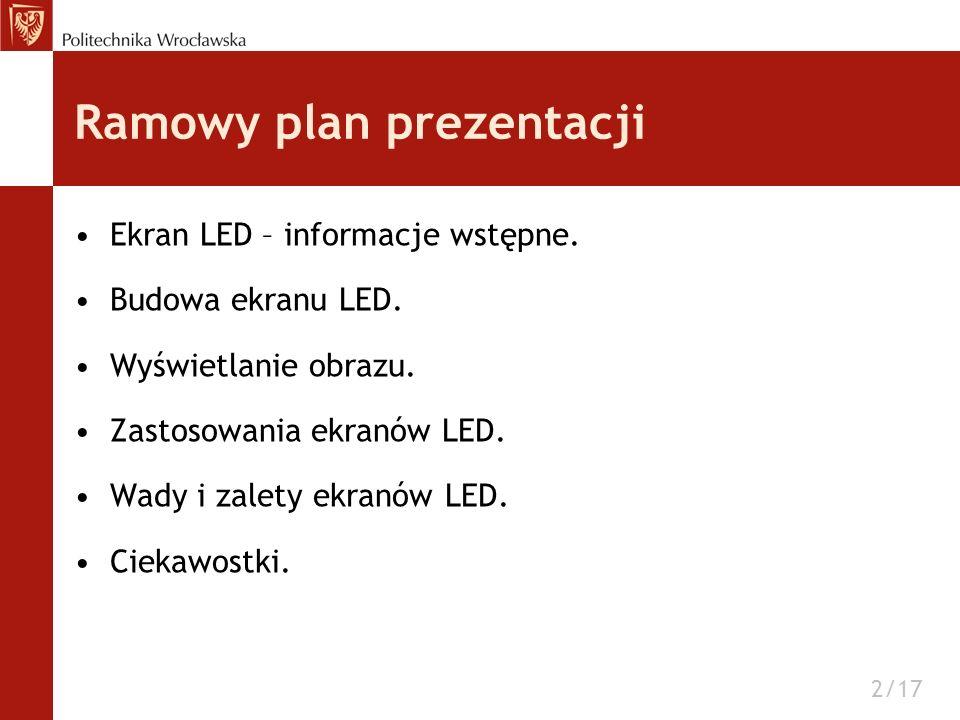 Ramowy plan prezentacji