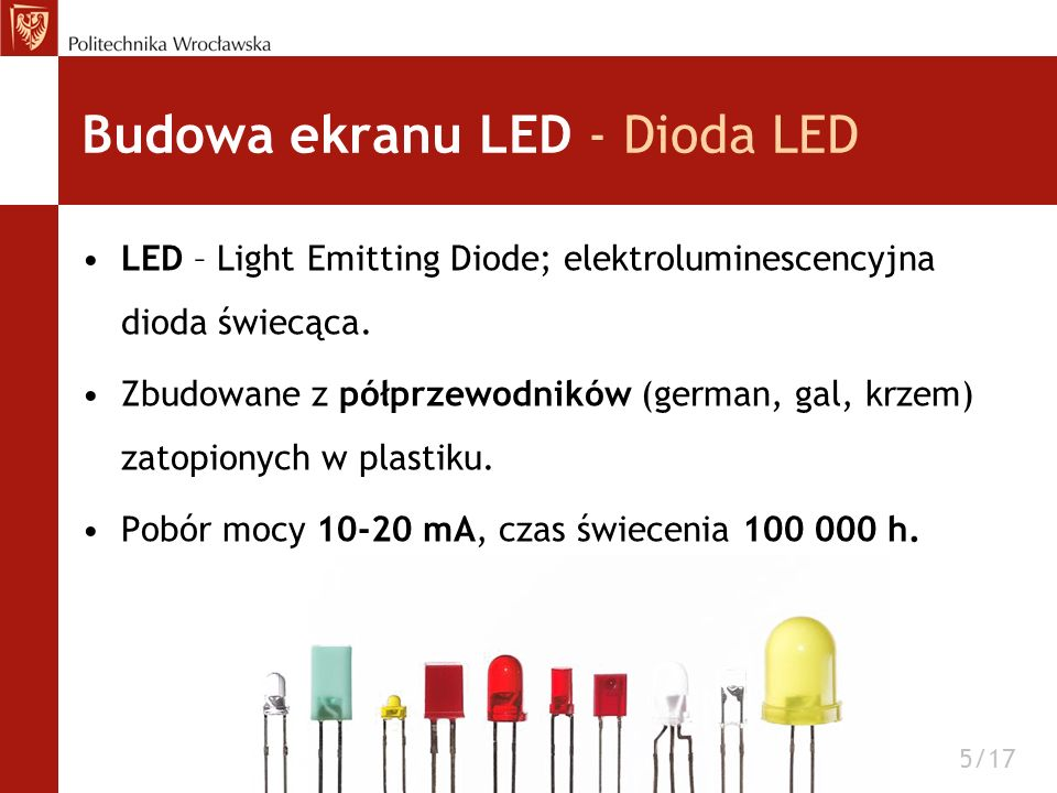 Budowa ekranu LED - Dioda LED