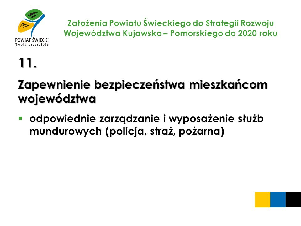 11. Zapewnienie bezpieczeństwa mieszkańcom województwa