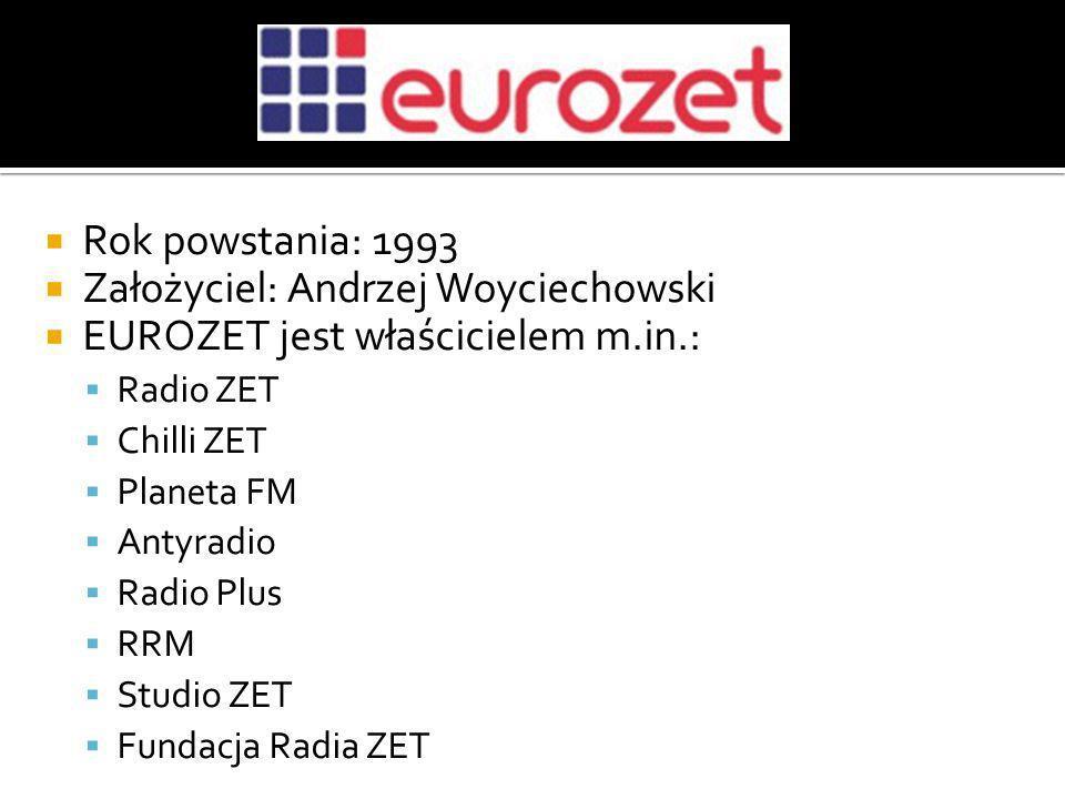 Założyciel: Andrzej Woyciechowski EUROZET jest właścicielem m.in.: