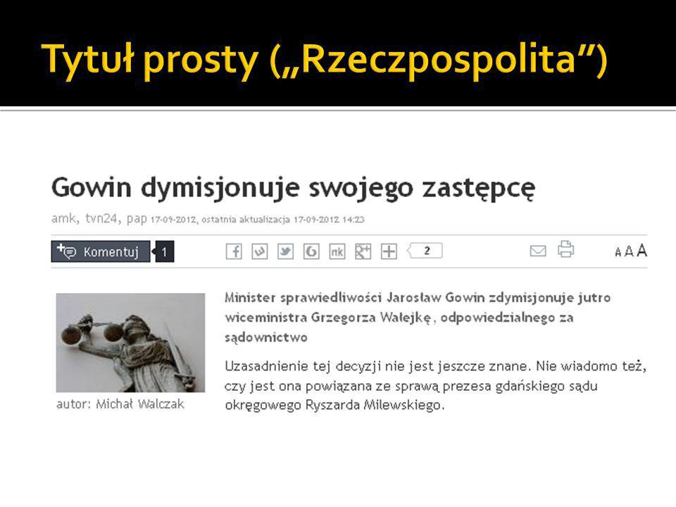 """Tytuł prosty (""""Rzeczpospolita )"""