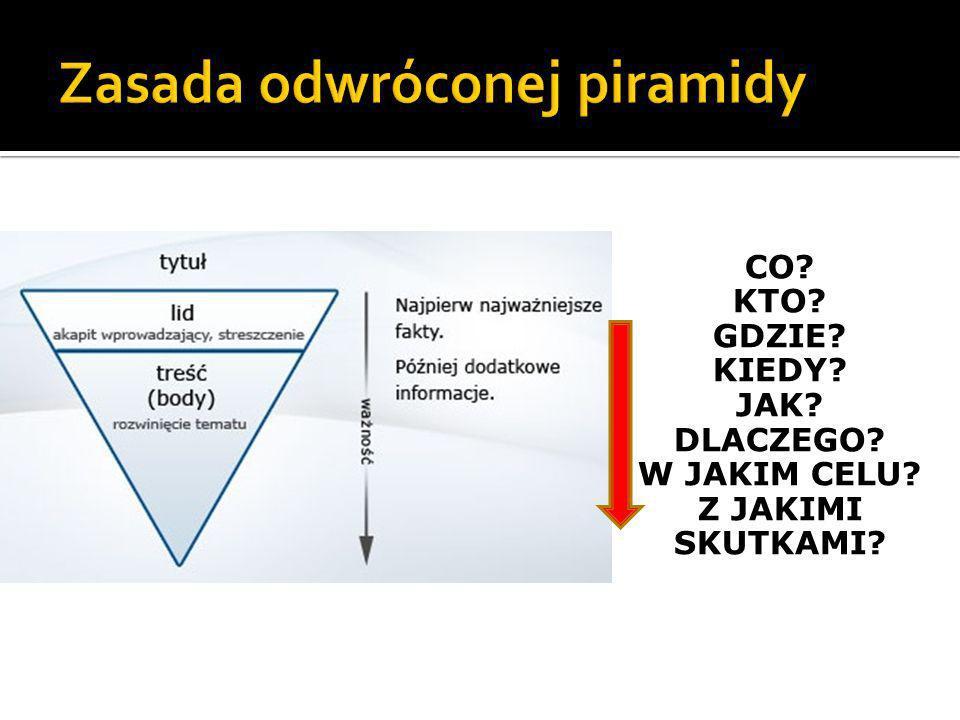 Zasada odwróconej piramidy
