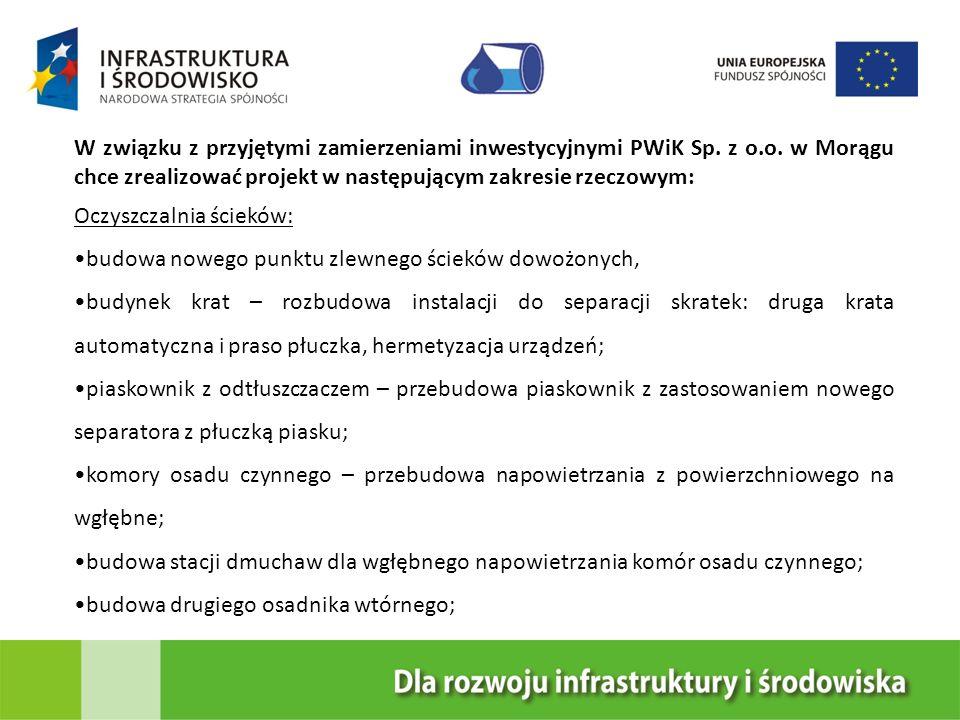 W związku z przyjętymi zamierzeniami inwestycyjnymi PWiK Sp. z o. o