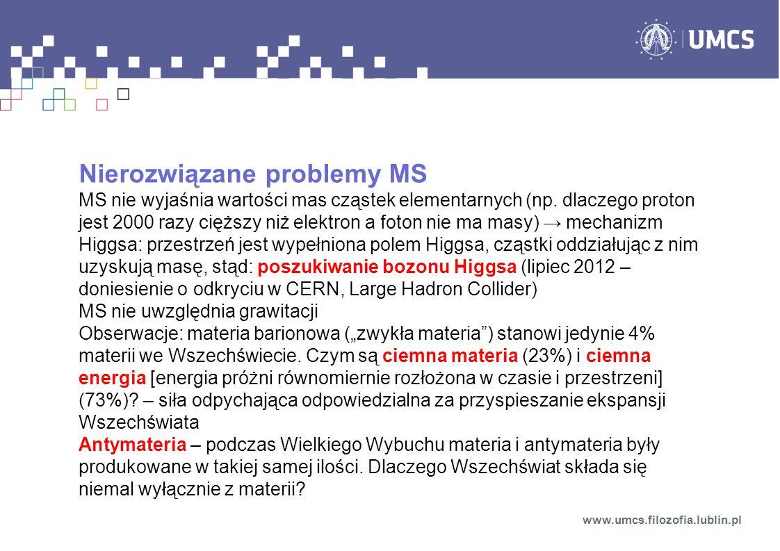 Nierozwiązane problemy MS