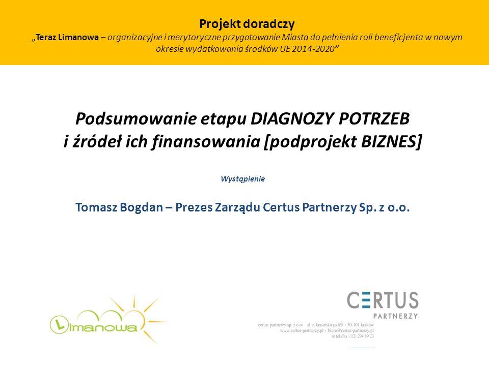 Tomasz Bogdan – Prezes Zarządu Certus Partnerzy Sp. z o.o.