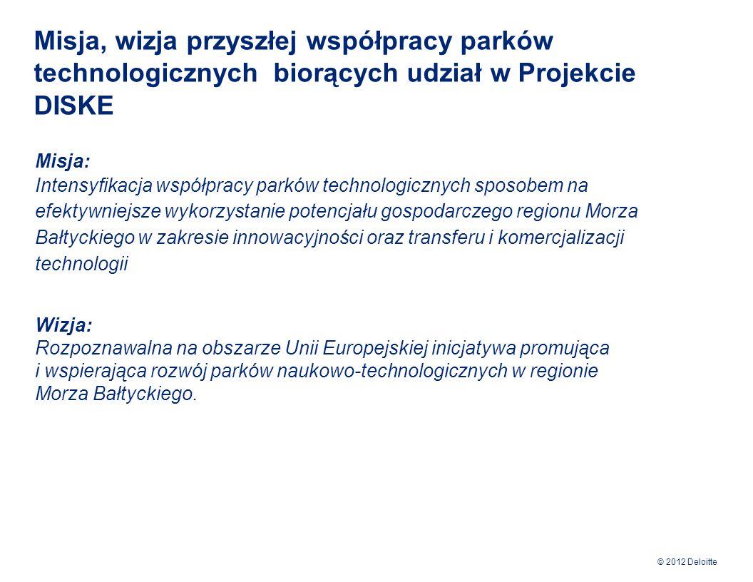 Misja, wizja przyszłej współpracy parków technologicznych biorących udział w Projekcie DISKE