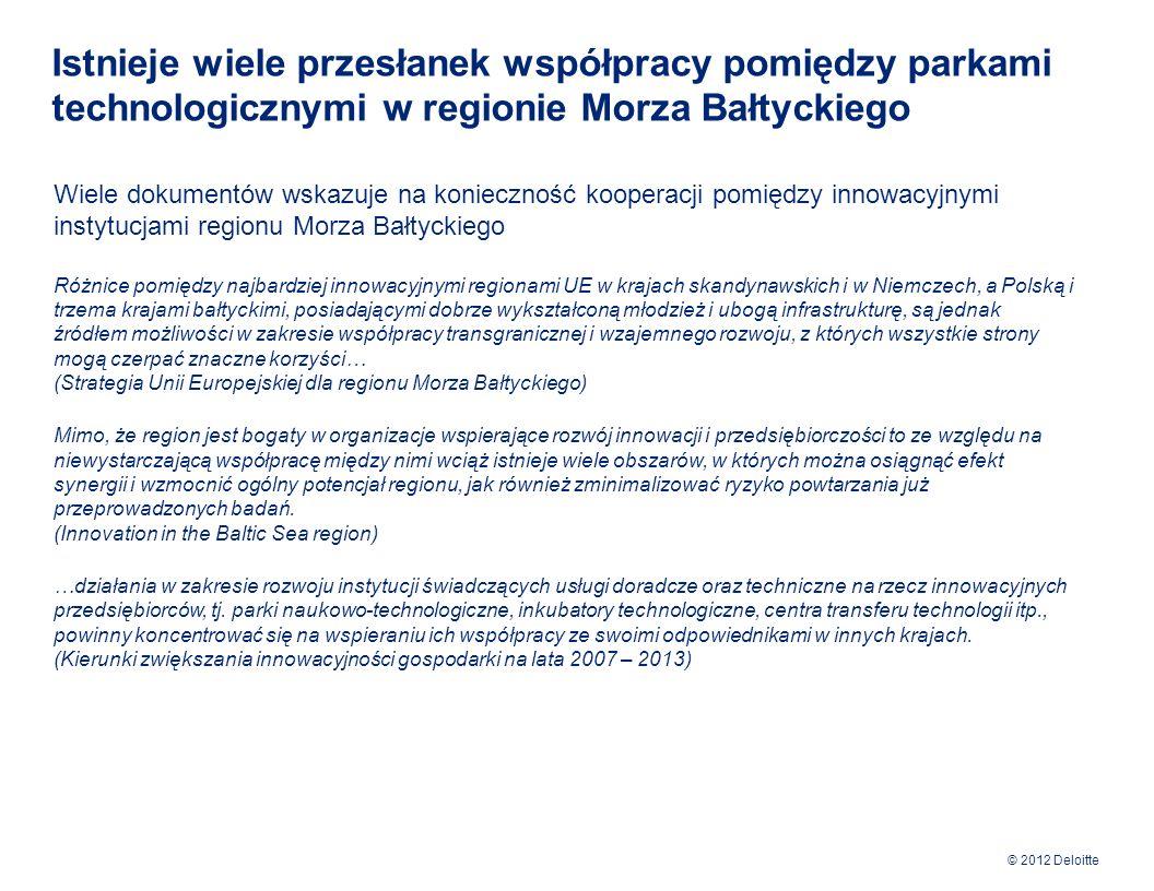 Istnieje wiele przesłanek współpracy pomiędzy parkami technologicznymi w regionie Morza Bałtyckiego