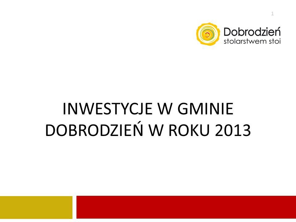 INWESTYCJE W gminie Dobrodzień W ROKU 2013