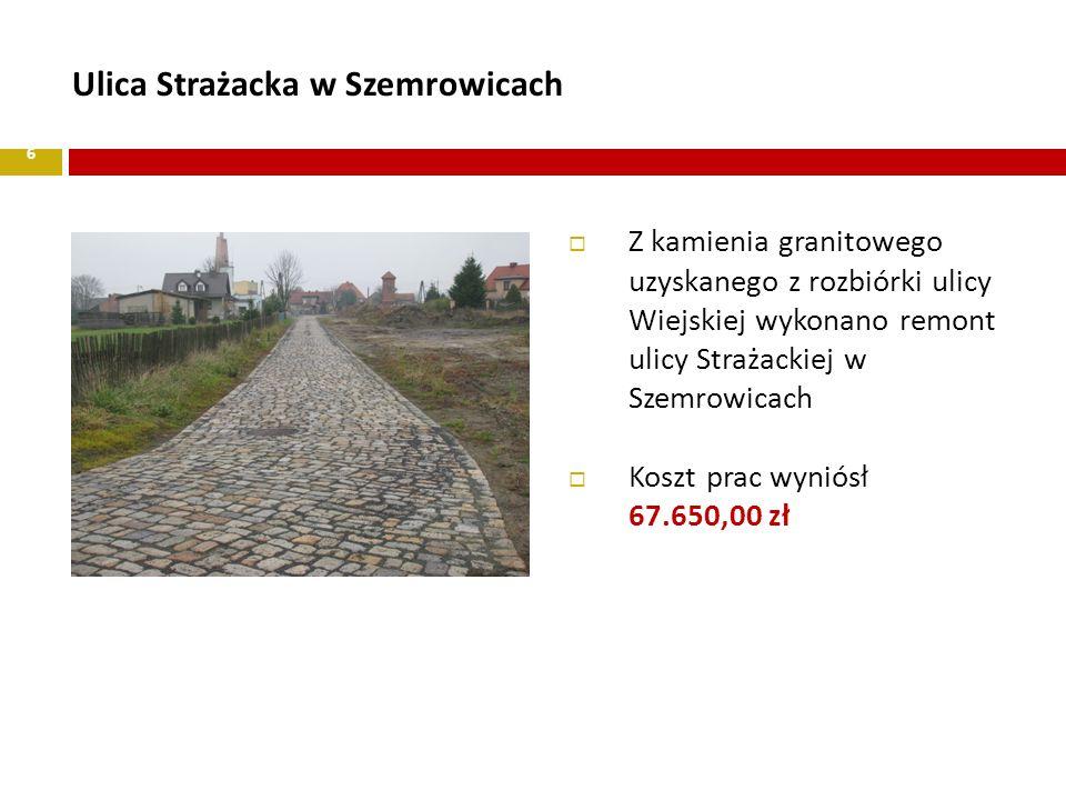 Ulica Strażacka w Szemrowicach