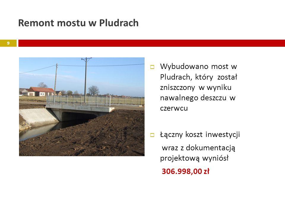 Remont mostu w Pludrach