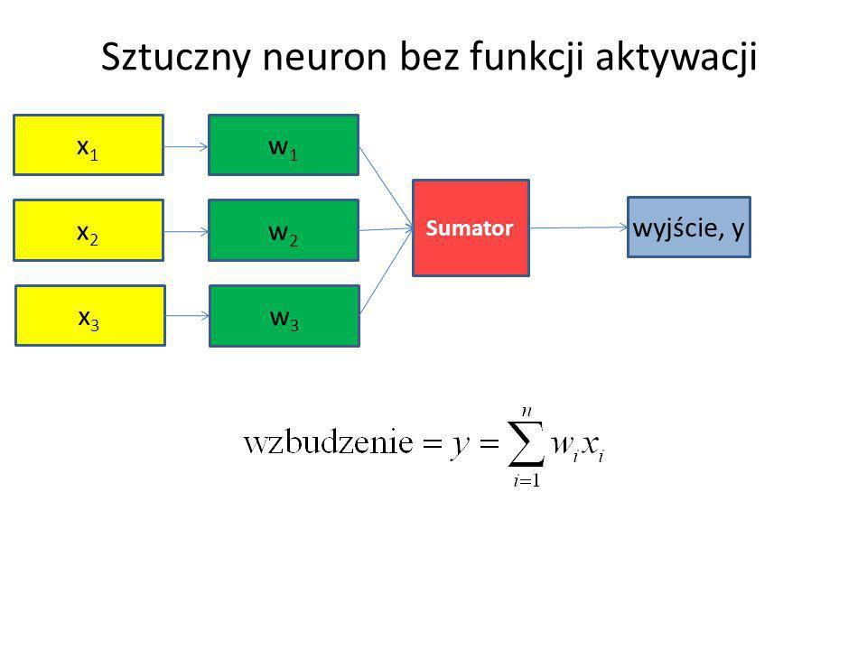 Sztuczny neuron bez funkcji aktywacji